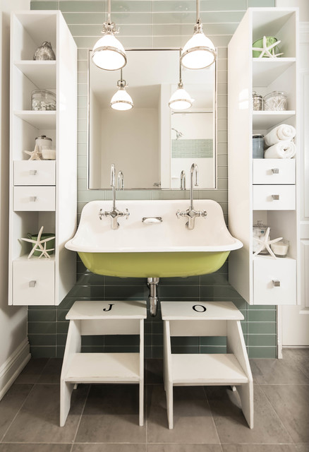 Stepping Stool Bathroom Beach with Accent Wall Bathroom Bathroom