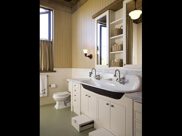 Stepping Stool Bathroom Traditional with Bath Lighting Cabinets Chrome