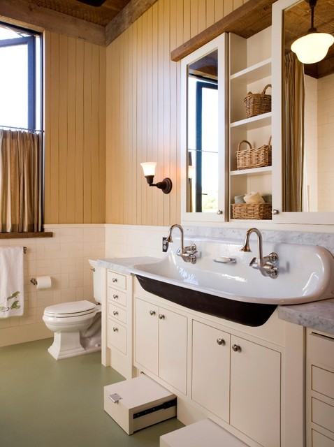 Stepping Stool Bathroom Traditional with Beige Cabinet Beige Drawer