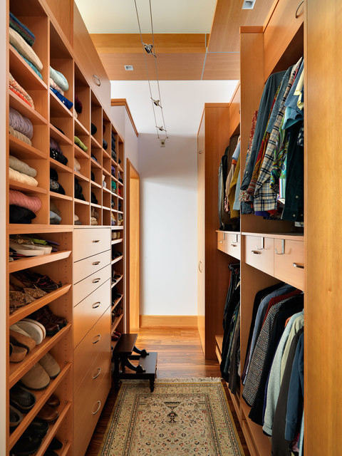 Stepping Stool Closet Contemporary with Cable Lighting Rug Shoe