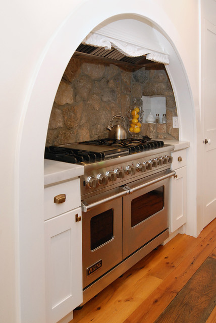 Stone Backsplash Kitchen Rustic with Arched Kitchen Detail Combination