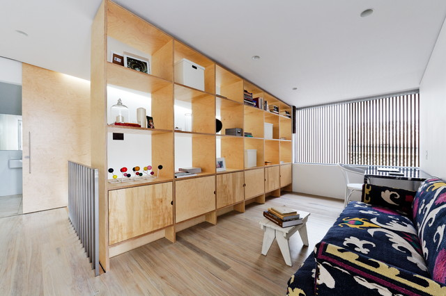 Storage Cubbies Living Room Scandinavian with Andrew Benn Brickwork Bright