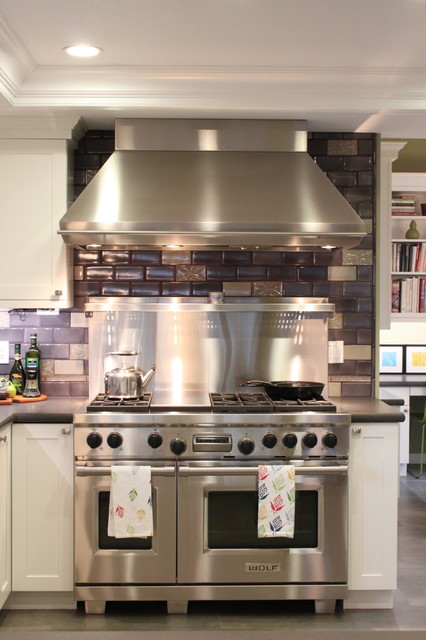 Stove Hoods Kitchen Eclectic with Caesarstone Ceiling Lighting Colorful