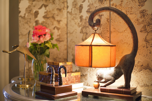 Strasser Woodenworks Spaces Eclectic with Monkey