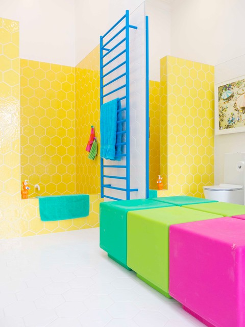 Suction Cup Hooks Bathroom Eclectic with Colour Colourful Bathroom Hexagon