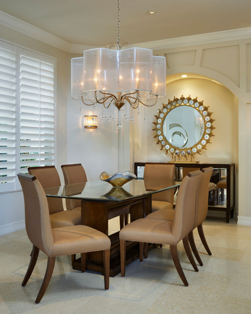 Sunburst Shutters Dining Room Transitional with Annie Santulli Annie Santulli