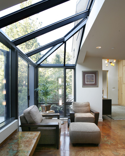 Sunroom Additions Entry Contemporary with Atrium Built in Bench