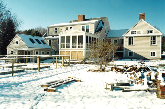 Sunroom Additions Exterior Rustic with Green Ipswich Maine Massachusetts
