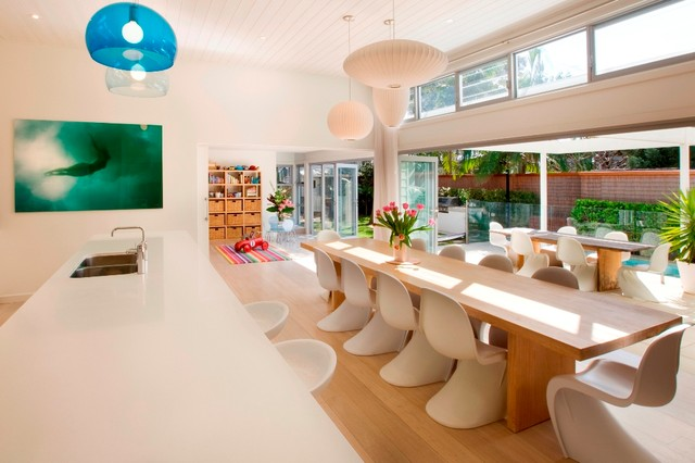 Swag Lamps Dining Room Contemporary with Balloon Lamp Beach House1