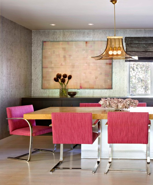 Swingasan Chair Dining Room Midcentury with Built in Cabinets Dining