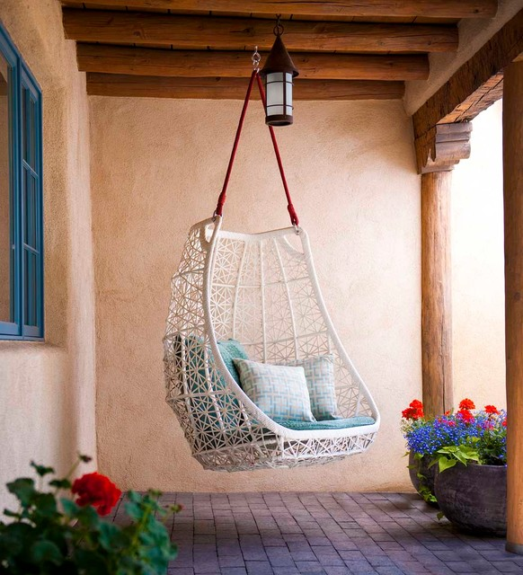 Swingasan Chair Patio Southwestern with Adobe Brick Paving Clean
