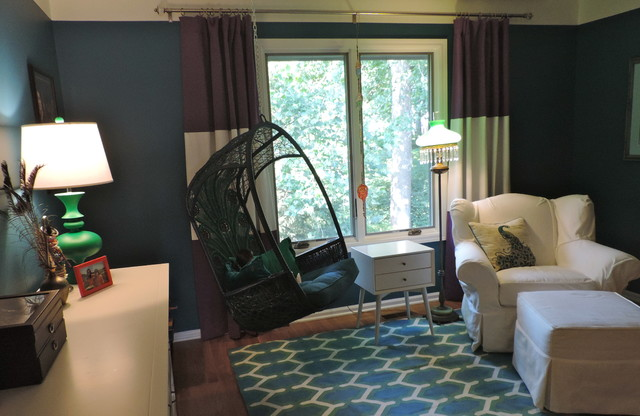 swingasan chair Spaces with ballet bar girl's room
