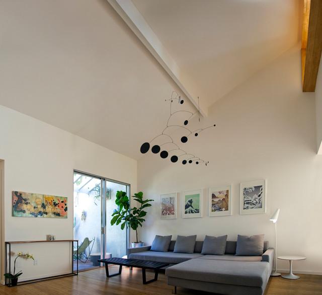 Swiss Coffee Paint Living Room Contemporary with Adrian Pearsall Alexander Calder