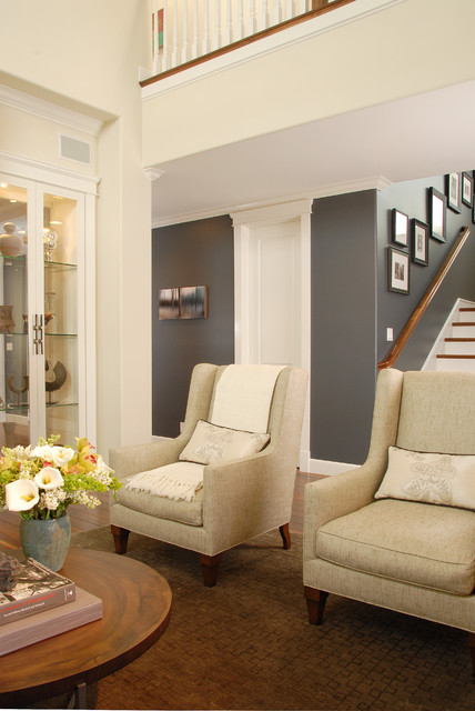 Swiss Coffee Paint Living Room Transitional with Dark Walls Decorative Pillows