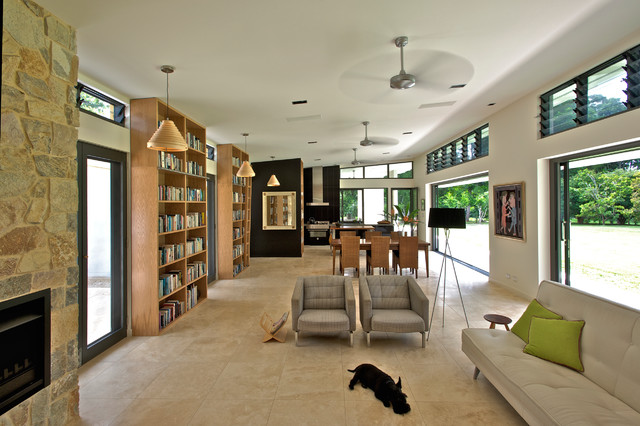 Tall Bookcase Living Room Contemporary with Aluminium Sliding Doors Aluminum