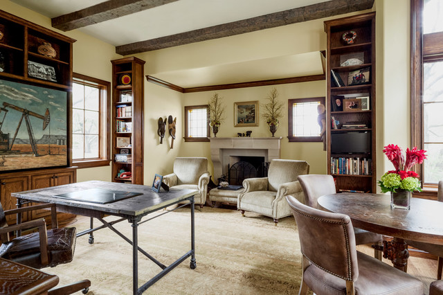 Tall Narrow Bookcase Home Office Mediterranean with Bookshelves Dark Wood Beams