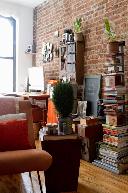Tall Narrow Bookcase Living Room Eclectic with My Houzz