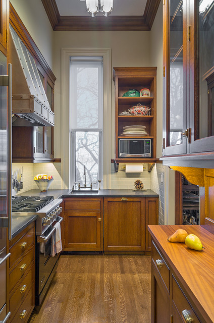 Tall Narrow Dresser Kitchen Traditional with Gray Countertop Metal Range