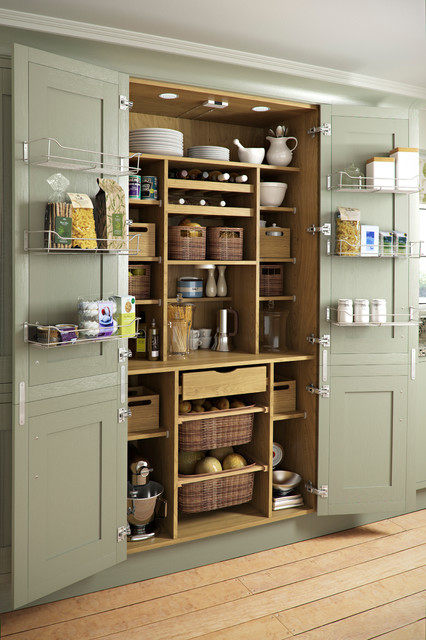 Tall Pantry Cabinet Kitchen Traditional with Bespoke Cooking Drawers Food