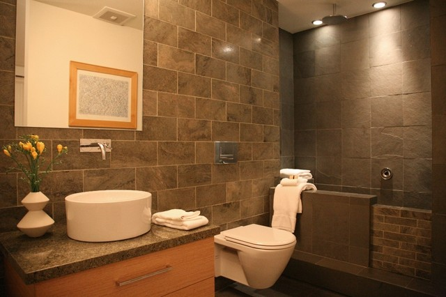 tankless toilet Bathroom Modern with bathroom mirror ceiling lighting