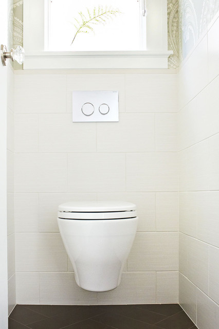 Tankless Toilet Powder Room Contemporary with Ceramic Cole Son Dcd