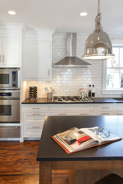 Tec Grout Kitchen Contemporary with Birch Floors Crown Molding