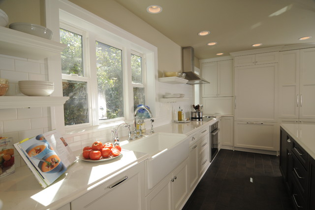 Tec Grout Kitchen Traditional with Ceiling Lights Farm Sink