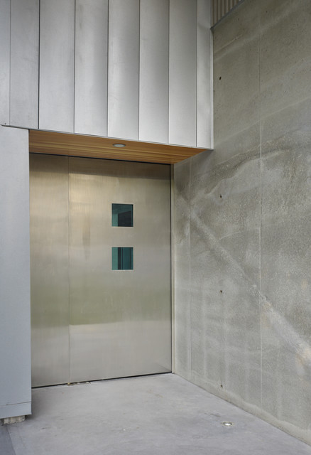 terrazzo floors Entry Industrial with concrete entry custom metal