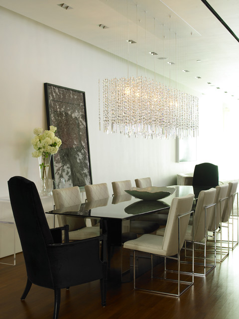 Thayer Coggin Dining Room Contemporary with Glamor Glamour