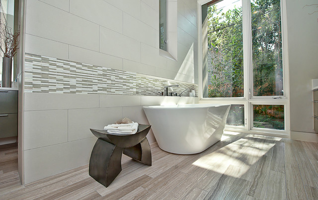 Tile Liquidators Bathroom Contemporary with Accent Tile Bathroom Stool
