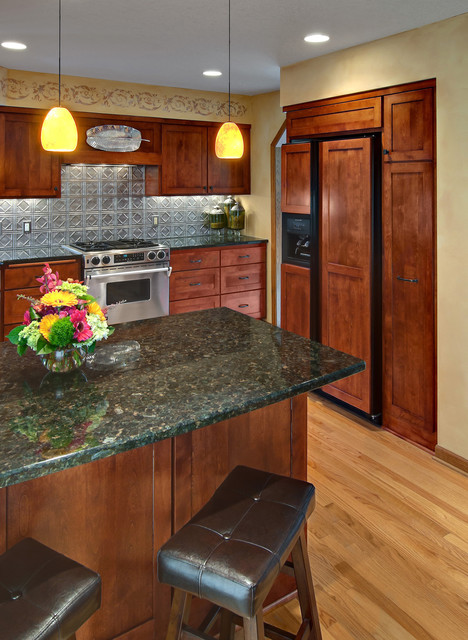 Tin Backsplash Kitchen Traditional with Categorykitchenstyletraditionallocationminneapolis