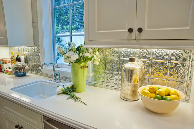 Tin Backsplash Kitchen Traditional with Backsplash Blizzard Butlers Pantry