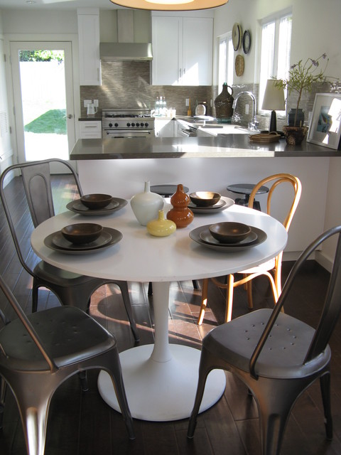 Tolix Chair Dining Room Eclectic with Cane Chair Gray Counters