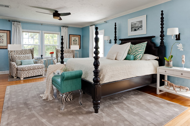 Tommy Bahama Furniture Bedroom Contemporary with Area Rug Bedside Table