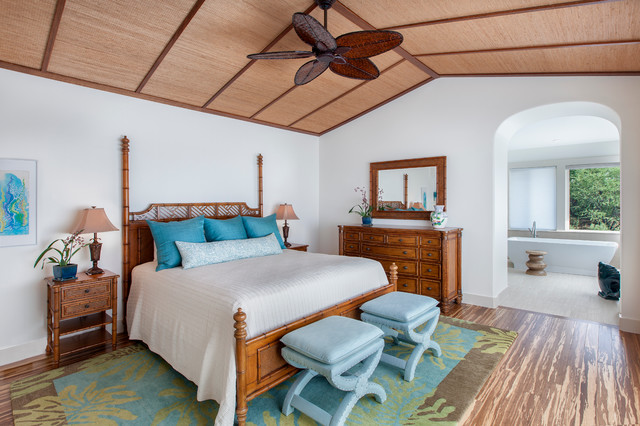 tommy bahama furniture Bedroom Tropical with area rug bamboo bedding