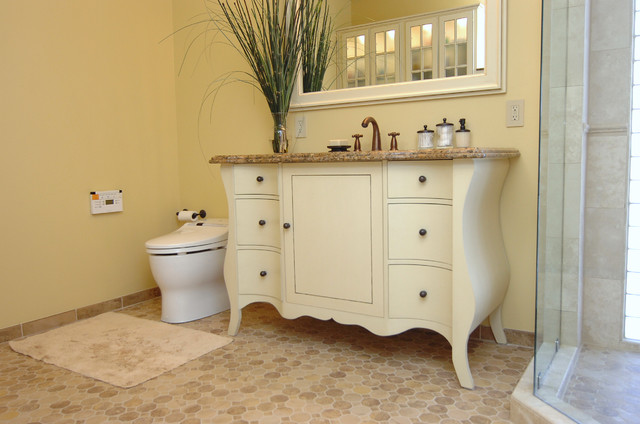 Toto Neorest Bathroom Traditional with Commode Freestanding Vanity Furniture