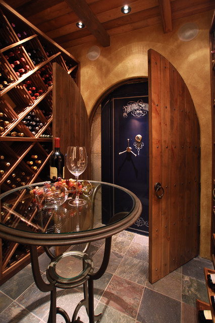 Toy Organizer Bins Wine Cellar Traditional with Arched Doors Arched Doorways