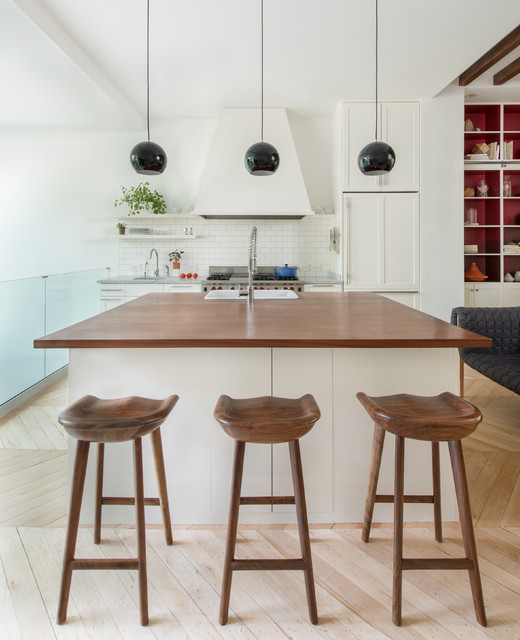 Tractor Seat Stool Kitchen Contemporary with Breakfast Bar Eat in Kitchen