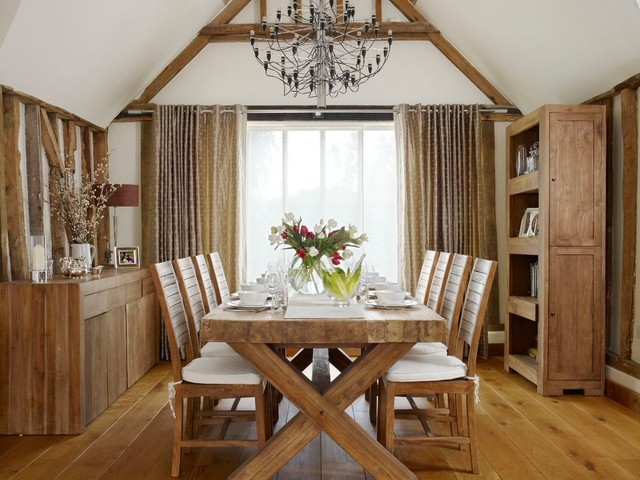 Trestle Dining Table Dining Room Farmhouse with Barn Conversion Barn Conversion