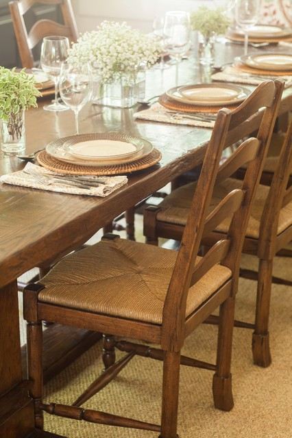 Trestle Table Dining Room Rustic with Rustic Table Setting