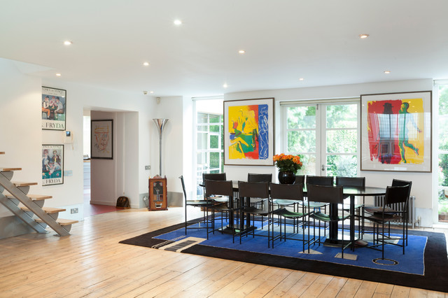 Trex Decking Colors Dining Room Eclectic with a Gallery Artwork Black