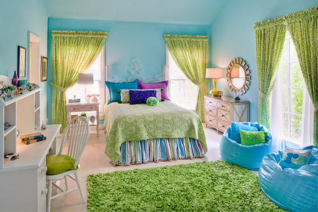 Trina Turk Bedding Kids Traditional with Apple Green Bean Bag