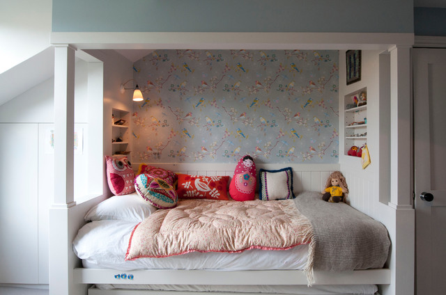Trundle Bed Ikea Kids Traditional with Alcove Built in Bed