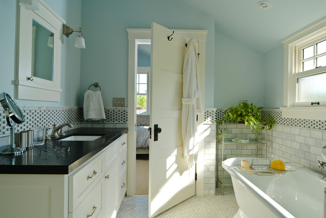 Trustile Doors Bathroom Craftsman with Bathroom Blue Blue Walls