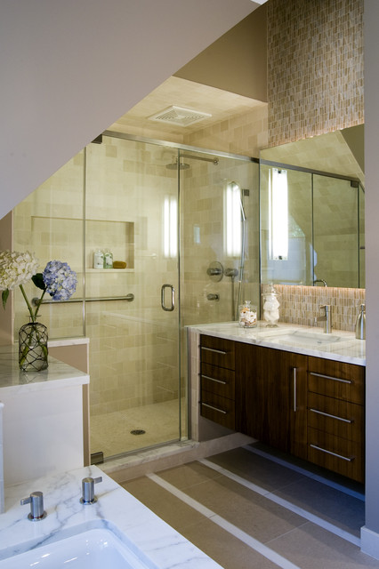 Tub to Shower Conversion Bathroom Contemporary with Bathroom Hardware Canister Set