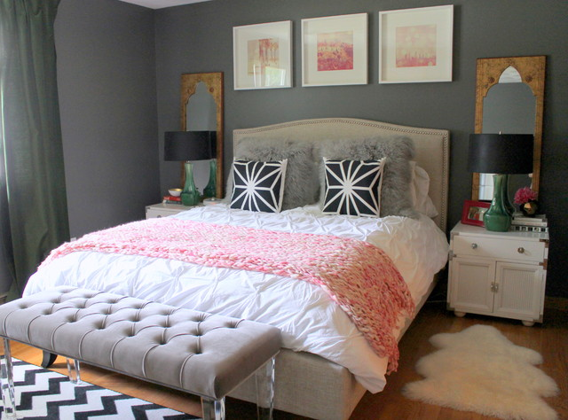 Tufted Bench Bedroom Eclectic with Acrylic Legs Art Ceramic