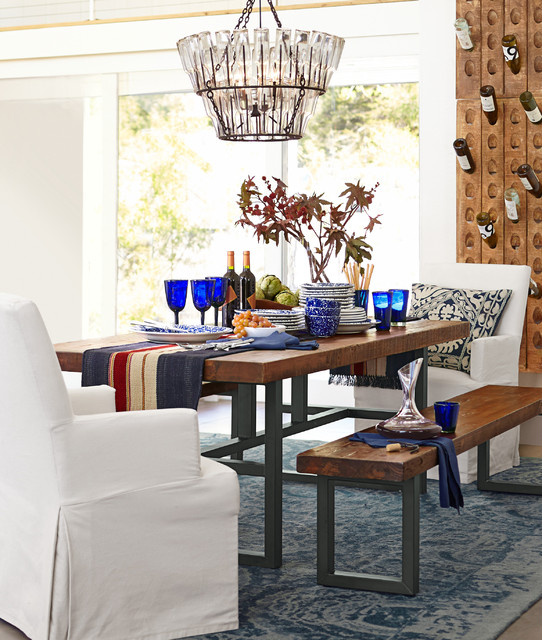 Tufted Bench Dining Room with Categorydining Roomlocationsan Francisco