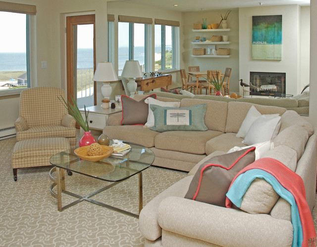 tuftex carpet Living Room Traditional with armchair cape cod coffee