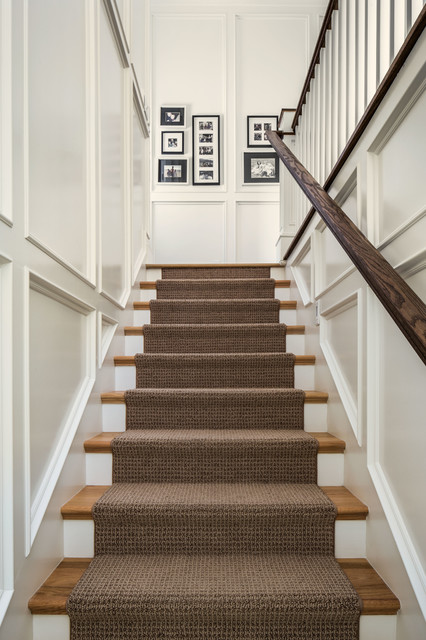 Tuftex Carpet Staircase Traditional with Black and White Photography