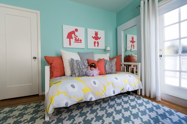Turquoise Duvet Cover Kids Modern with Bedding Daybed Doll Floral1